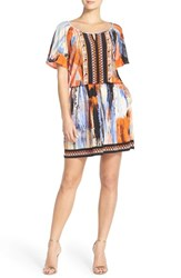 Women's Eci Embellished Print Jersey Blouson Dress