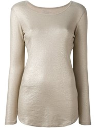 Majestic Filatures Scoop Neck T Shirt Nude And Neutrals