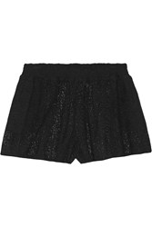 Alice Olivia Crochet Knit Shorts Black