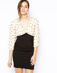 Forever Unique Baxter Studded Bodycon Dress Blackcream
