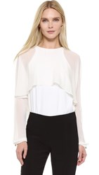 Antonio Berardi Long Sleeve Blouse Off White