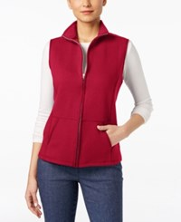 Karen Scott Quilted Zip Front Vest Only At Macy's New Red Amore