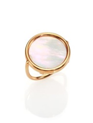 Ginette_Ny Mother Of Pearl And 18K Rose Gold Disc Ring