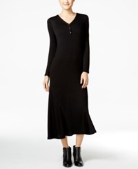 G.H. Bass And Co. V Neck Maxi Dress Black