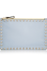 Valentino The Rockstud Color Block Leather Pouch