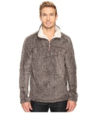 True Grit Frosty Cord Pile 1 4 Zip Pullover Brown Men's Clothing