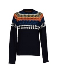 Desigual Knitwear Jumpers Men Dark Blue