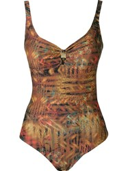 Lygia And Nanny Open Back Printed Swimsuit Multicolour