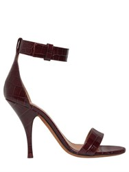 Givenchy 100Mm Retra Croc Leather Sandals