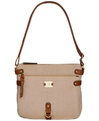 Style And Co. Precious Cargo Crossbody Natural Linen Unbleached Linen