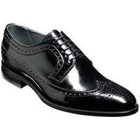 Barker Woodbridge Leather Brogue Derby Shoes Black