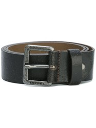 Diesel Silver Tone Buckle Belt Brown