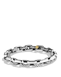 David Yurman Empire Link Bracelet With Gold Silver Yellow Gold