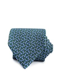 Thomas Pink Squirrel Print Classic Tie Deep Green Blue