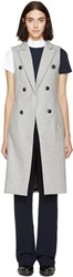 Rag And Bone Grey Wool Faye Vest