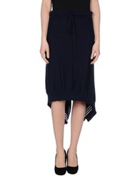 Y 3 Knee Length Skirts Dark Blue
