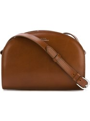 A.P.C. Zipped Shoulder Bag Brown