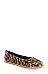 M4d3 Footwear Women's 'Matilda' Flat Tribal Calf Hair