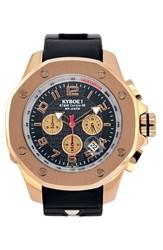 Kyboe Men's Chronograph Silicone Strap Watch 48Mm