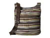 Baggallini Big Zipper Bagg Java Stripe Cross Body Handbags Multi