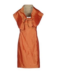 X's Milano Knee Length Dresses Orange