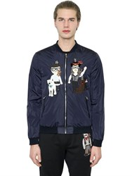 Dolce And Gabbana Designers Patches Nylon Bomber Jacket