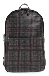 Ermenegildo Zegna Men's Leather Backpack Grey