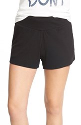 Junior Women's Rvca 'Looter' Rib Shorts Black