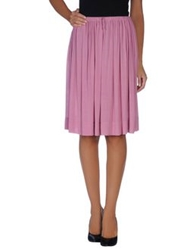 Twin Set Simona Barbieri Knee Length Skirts Light Purple
