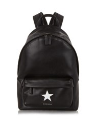 Givenchy Star Embossed Leather Backpack Black White