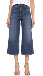 Denim X Alexander Wang Drill High Rise Wide Leg Jeans Medium Indigo Aged