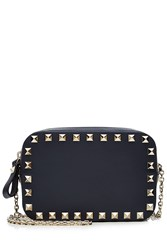 Valentino Small Leather Rockstud Shoulder Bag Blue