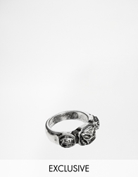 Icon Brand Skull Head Ring Exclusive To Asos Silver