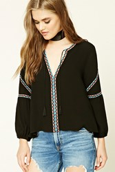 Forever 21 Boxy Tribal Inspired Top