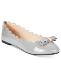 Wanted Olivia Scalloped Ballet Flats Women's Shoes Grey