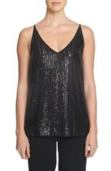 1.State Women's Sequin Cutout Tank Top