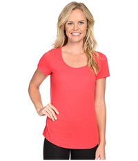 Lucy S S Workout Tee Passion Pink Women's Workout Red