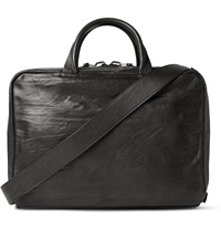 Alvaro Arturo Washed Leather Briefcase Black