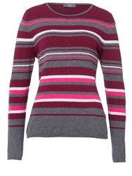 Basler Sweater With Striped Pattern Grey