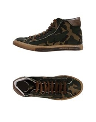 Brian Dales High Tops And Trainers Military Green
