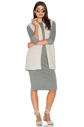 Michael Stars Relaxed Vest Light Gray