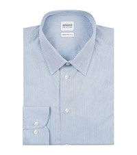 Armani Collezioni Diamond Stripe Shirt Male Blue
