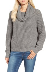 Women's Bp. Cowl Neck Pullover Sweater Grey Cloudy Heather