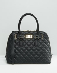 Aldo Quilted Dome Tote Bag Black