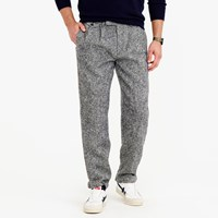 J.Crew Double Pleated Relaxed Fit Pant In Irish Tweed