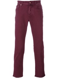 Jacob Cohen Slim Fit Trousers Red