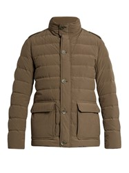 Herno Waterproof Quilted Down Field Jacket Green