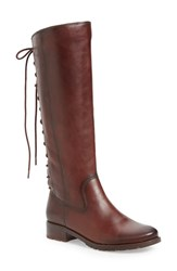 Sofft Women's 'Sharnell' Riding Boot Red Leather