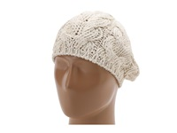 San Diego Hat Company Rec1018 Recycled Yarn Beret Ivory Berets White