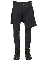 Dsquared Wool Gabardine Pants With Skirt Panel
